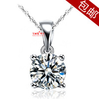 925 pure silver plated platinum necklace female short design chain fashion silver jewelry married fashion