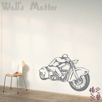 Motorcycle abstract wall stickers