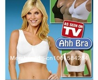 Top Quality 6size Seamless Fashion sexy  yoga 90pcs/lot ahh bra 3pcs/set(black white beige)