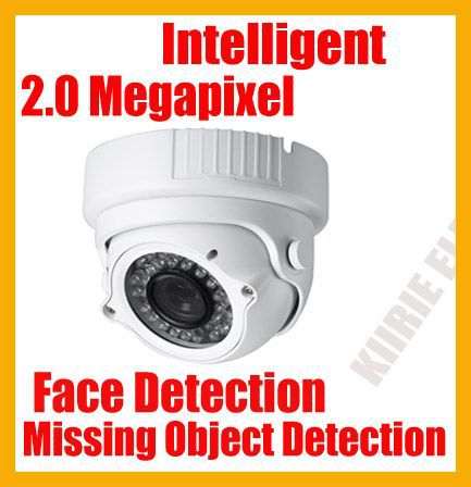 Waterproof dome ip camera,Face detection/Missing object detection Intelligent functions, with ir cut(China (Mainland))