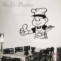 cook portrait wall stickers for dining room