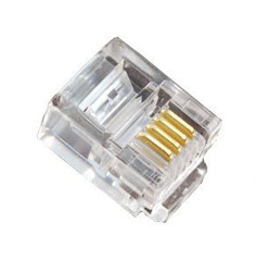 Wholesale 6P4C 6Pins 4Contacts RJ11 Telephone Modular Plug Jack,RJ11 Connector ,100pcs ,Free Shipping,(China (Mainland))