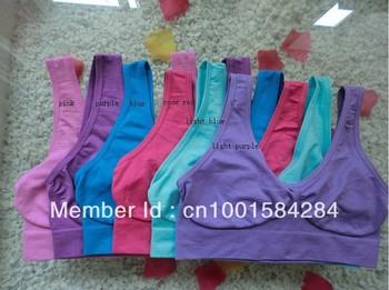 Factory sale 1000pcs/lot, 9color Free shipping colourful Sexy Seamless Rhonda Shear Ahh bra Leisure yoga Bra - No box(OPP bag)