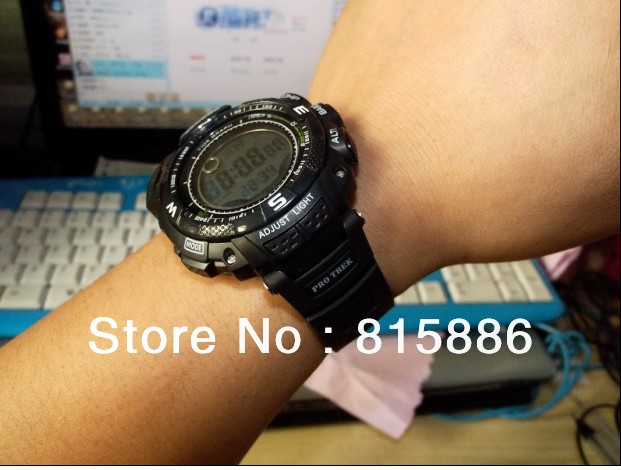 Free shipping 30pcs/lot new version high quality PRG - 130 t - 7 v strong sport climbing watch male table(China (Mainland))