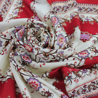 Scarf spring and autumn female mulberry silk pure silk large facecloth handmade roll-up hem crepe satin bronzier
