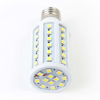 Bright 10W  E27 60pcs LEDs 1000LM AC85-265V White/ Warm White SMD LED Corn Light LED Bulb Light Downlights