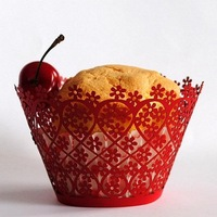 hot sell customizable flowers disposable paper laser cut individual unique wedding favor cupcake holders