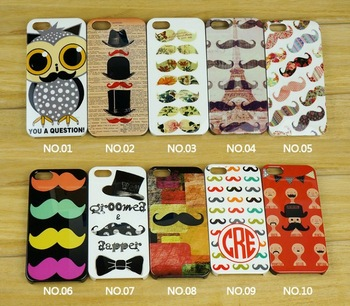New Funny Moustache Emergency Mustache Hard Plastic Back Cover Case for iphone 5 5g, cell phone cover Free shipping 10pcs/lot