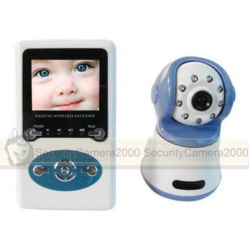 Free Shipping 2.4GHz Digital Wireless Camera Kit Two-way Speaker IR + Baby Monitor