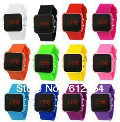 Color Storm Fashion LED watches women's Digital Colorful Silicone Unisex Sport for men Watch 5pcs Watch free shipping C5005*5
