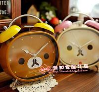 Rilakkuma kitty lyrate easily bear face cartoon alarm clock alarm clock