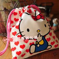 Kt cat hello kitty waterproof print drawstring tote storage bag