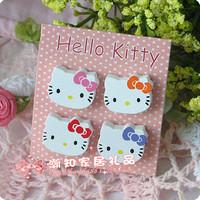 Japanese style endulge hello kitty cat owl refrigerator stickers magnets memo pad set