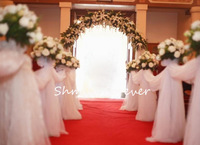 Free Shipping! New arrival 70CM widthX110M Long Wedding Drapes Swage Decoration Organza Fabrics