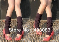 36pairs/lot 2012 Fashion Winter Girls Multi-colors Wool Solid Warm Long Knitting Girls Female Foot Crus Socks Shoe Covers Pants