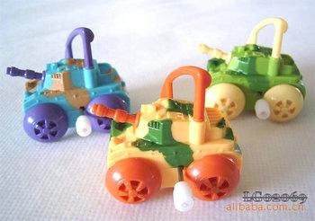 Mini classic wind up toys rotating tankette