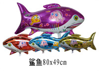 50 PCS blue Animal Shark Helium Balloons Children's inflatable toys Kids birthday gifts 80X49cm