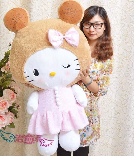 Free shipping high quality 100cm big soft plush toys hello kitty cartoon dolls cute stuffed toys birthday gifts for women mr6004(China (Mainland))