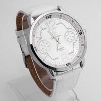 White Fashion Luxury Gentle Men's Man Teenagers Analog Quartz Wrist Watches, Free Shipping