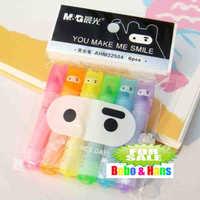 New cute Ninja Rabbit fluorescent pen / Color Highlighter marker / 6 pcs/pack / Wholesale