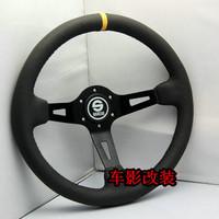 General sparco steering wheel 13070 automobile race steering wheel modified steering wheel genuine leather steering wheel