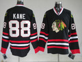 Wholesale&retail New Hockey jerseys Men's cheap Jerseys Chicago Blackhawks #88 Patrick Kane Black  hockey jerseys size:48-56