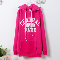 2013 Autumn and winter Women hoodie sweater in Korea ladies hoodies letter pocket Sweatshirts hooded cute