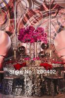 free shipping new desgin taffeta coin round table cloth for weddings decoration