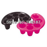 5Pcs  Nail Art Tool Nail Bubble Bath Spa Bowl Black Pink Assorted color Nail Soak Off Tray Acrylic Gel