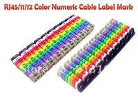 RJ45/11/12 Color Numeric Cable Label Mark 01 100pcs