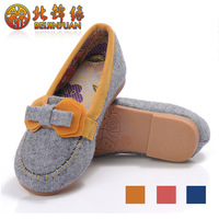 Free Shipping - Natural bamboo comfortable cotton-made footwear beijing cotton-made shoe children shoes female single