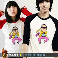 Bird antipapal style pattern raglan sleeve long-sleeve T-shirt 100% cotton T-shirt lovers