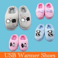 Cute  Plush shoes USB warmer/usb warmer shoes/Foot Warmer Shoes Electric Heat Slipper Free Shipping novelty item
