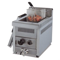 PK-JG-GF71A Gas Temperture-controlled Fryer, 1-Tank, 1-Basket, for Commercial Kitchen