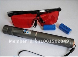 Wholesale - 2w blue laser pointers 2000mw burn match/pop balloon+glasses+battery+changer+gift box+free shipping(China (Mainland))