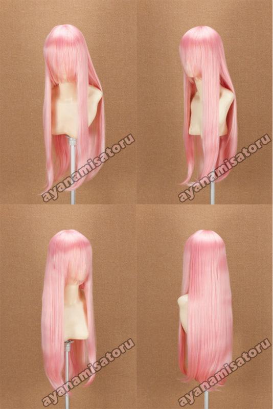 Long 80cm cosplay wig Baby pink Gundam Seed Lacus Clyne(China (Mainland))