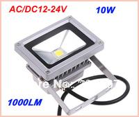 60pcs/lot  Free Shipping/DHL LED Floodlight1000lm warm white / Cold white 10W IP65 AC/DC 12 -24V FL-100