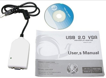 New USB 2.0 to VGA Extra Multiple Display Cable Monitor Adapter  QQTSM0976