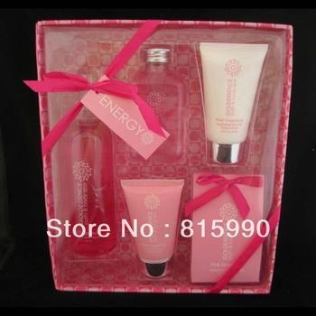 5pk 2OZ natural pink perfumed Bath Spa Set