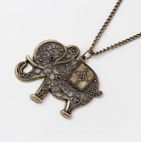 Hot &Europe and the United States to restore ancient ways delicate elephants fashion necklace+ Free Shipping#A92