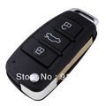 New 3 Buttons Black Flip Folding Remote Key Shell Case For Audi A6 Q7 Free shipping