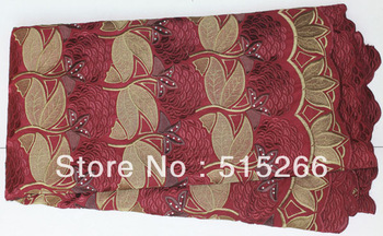 Free shipping!2012 New Fashion Swiss BEST COTTON BIG LACE TKL3082wine red