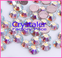 DMC hot fix rhinestone 1440pcs/lot 16ss-3.8mm crystal ab color hotfix transfer stones for clothes  SS16