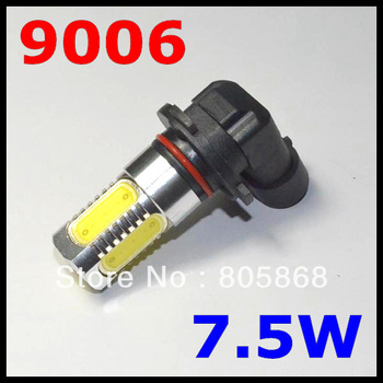 Free shipping 2pcs 9006 7.5W high power white LED car bulb front head led car bulb fog light