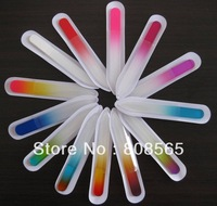 Rainbow color painting glass file mini size, 30pcs/lot on sales