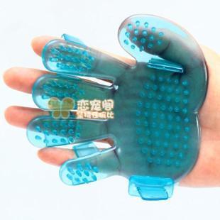 卸売ペットの用品ペットプラスチックの手のシャワーを浴びるブラシ 卸売ペットの用品ペットプラスチッ