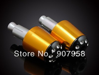 "Hot ! Motorcycle Gold Universal Aluminum CNC Handlebar Grips Billet Bar Ends Barends 7/8""(22mm)"
