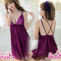 Plus size underwear women's charming temptation set sleepwear plus size nightgown