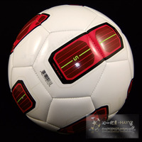 High quality Size5 TPU  soccer ball, football, official size and weight  T90 red and white