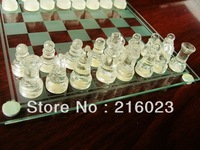 Family Games Classical Solid Glass Chess Set Educational Board Brain Games Toys